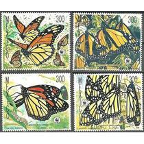 Mexico 1988 Mariposa Monarca 4 Timbres Nuevos Impecables