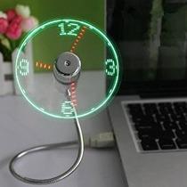 Ventilador Reloj Led Onetwoâ®usb Con Tiempo Real Función De