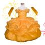 Vestido Princesa Disfraz Bella Y La Bestia Tela De Lujo