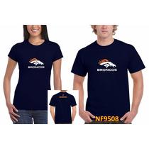 Playera Tipo Nfl Broncos De Denver Personalizada Nf9508