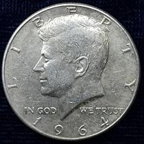 Dos Monedas (1 Cabellos Acentuados) 50 Cent Kennedy Plata 64