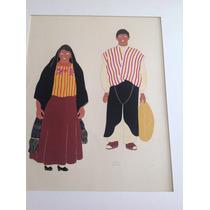 Carlos Mérida. Serigrafía. Mexican Costumes. 7