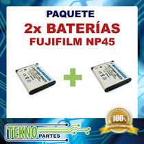 Kit Dos Baterías Fujifilm Np45 Casio Np-80 Np-82