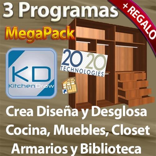 3 programas para crear y desglosar muebles cocinas for Programa para disenar closet y cocinas