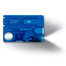 Victorinox Herramienta Swisscard Lite Azul Transparente
