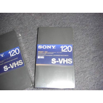 S- Vhs Sony Cassette T-120 Magnifica Calidad