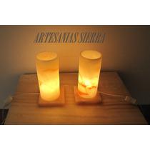 Jgo. 2 Lámparas De Onix De 9x20 Cms Envío Gratis
