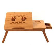 Mesa De Bamboo Con Ventilador Para Laptop