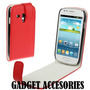 Samsung Galaxy S3 Mini I8190 Funda Roja Delux Case Anticaida