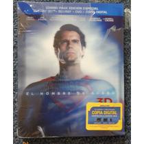 Blu-ray 3d Superman El Hombre De Acero Bluray Man Of Steel