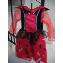 Disfraz De Niña Para Hallowen Talla 4-6