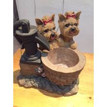 Yorkshire Terrier Fuente Decorativa Preciosisima Increible