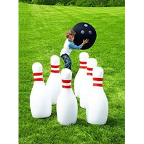 Hearthsong Gigante Bowling Juego Inflable - Clásico Blanco R