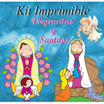 Kit Imprimible Virgencitas Y Santitos - Invitaciones Cards