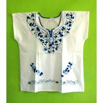 Blusa Bordada Colores Elegante100% Algodn Regalo De Amor Pmo