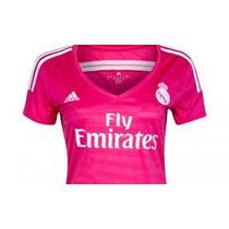 Jersey Real Madrid Mujer Rosa 2015 Adidas Tallas S M L Y Xl