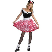 Disfraz De Minnie Mimi Mouse Para Damas, Envio Gratis