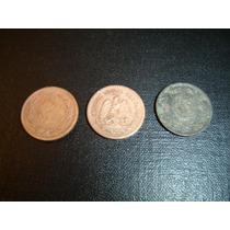 Moneda De Cobre 1 Centavo Años 1937-1943