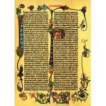 Lienzo Tela Latín Biblia De Gutenberg 1455 Parábola 70x50cm