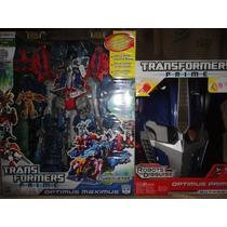 Transformers Optimus Maximus + Máscara Electrónica Paquete