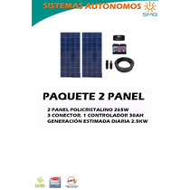 Kit 2 Paneles Fotovoltaico - Energía Solar
