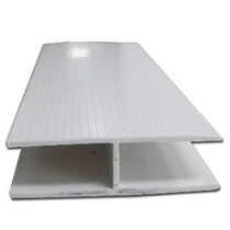Conector De Pvc 10 Mm Para Cartón Estructural Tipo H Blanco