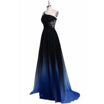 Hermoso Vestido De Noche Color Degradado Todas Las Tallas