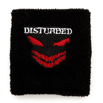Hot Topic Muñequera Pulsera Disturbed Black And Red Wristban