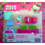Hello Kitty Set Miniatura De Descapotable Rosa De Megablock