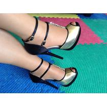 Zapatillas Andrea Color Dorado Talla 25.5