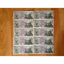 Lote 10 Billetes Mexicanos Seriados