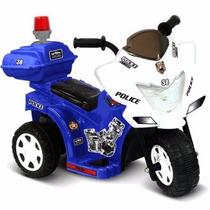 Moto Eléctrica Patrulla De Policia Niño Kid Motorz