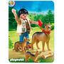 Playmobil 5211 Perro Pastor Aleman Con Cachorro Retromex¡¡