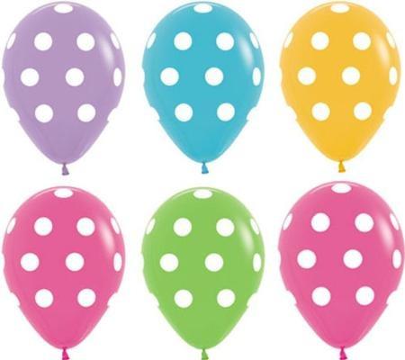 globos de puntos polka dots lunares decoracin fiestas en melinterest