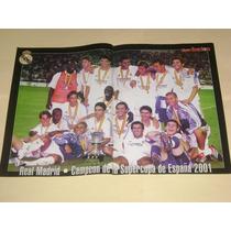 Poster Real Madrid Campeon Supercopa España 2001 Don Balon