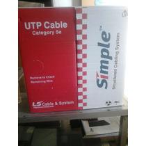 Bobina Cable Utp Interior Cat 5e 305m 24awg Marca Lg Simple