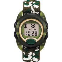 Timex Niños Verde Translúcido Reloj Digital De Camoflauge Co