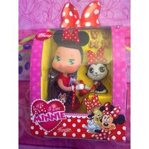 Disney Minnie Mouse Munequita Con Mascota Modelo 1