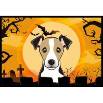 Halloween Jack Russell Terrier Mat Interiores O Exteriores D