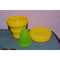 Copa Menstrual Meluna Y Vaso Esterilizador Para Microondas