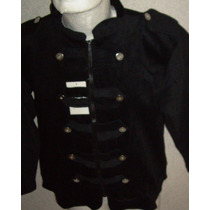 Saco Blazer Corte Militar Stretch Moda Y Tallas Extra Mn4