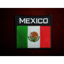 Parche Bordado Bandera De Mexico Escudos