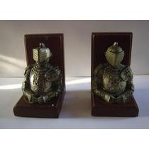 Sujetalibros De Caballeros Medievales Medio Cuerpo Metal Y M