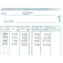Tarjetas Para Reloj Checador Amano Mjr 7000 Y 8000 Series