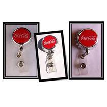 Porta Gafete Retractil (yo-yo) Coca Cola