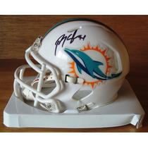 Minicasco Autografiado Randy Starks Delfines Miami Nfl / Coa