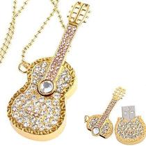 Memorias Usb Guitarra Joya Oro 8gb