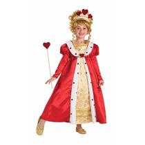 Disfraz Reina De Corazones Talla Chica 4-6 Nuevo Original