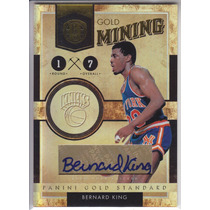 2010-11 Gs Gold Mining Autografo Bernard King 69/99 Knicks