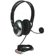 Audífono C/micrófono V3 Mediano Manhattan 175555 Negro